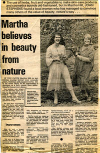 History of Martha Hill - Martha believes in beauty from nature